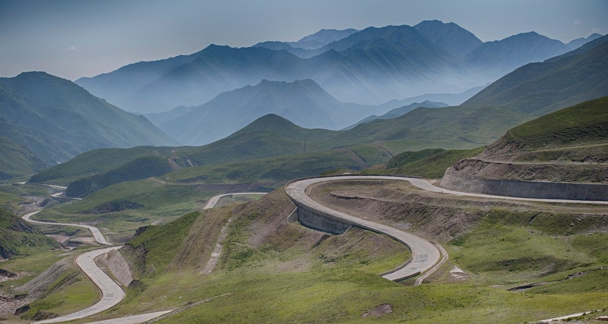 Road winding in many directions symbolising road to recovery for SMEs