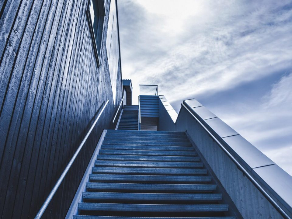 Stairway to the sky implies business growth